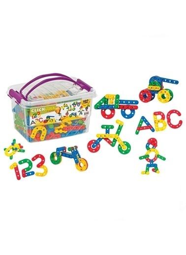 Dede Dede Click Clack Kutulu Eğitici Şekiller 192 Parça Lego Yapboz Renkli